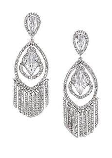 Adriana Orsini Embraced Marquis Tassel Chandelier Earrings