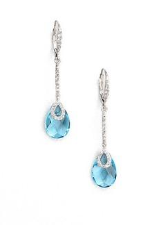 Adriana Orsini Faceted Drop Earrings/Aqua