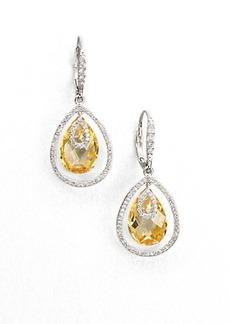 Adriana Orsini Faceted Framed Drop Earrings/Canary