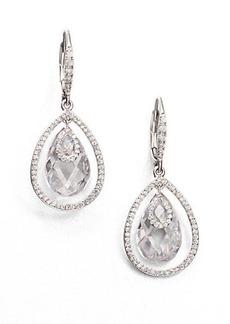 Adriana Orsini Faceted Framed Drop Earrings/Clear