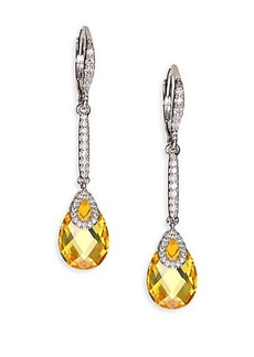 Adriana Orsini Faceted Wrap Linear Drop Earrings