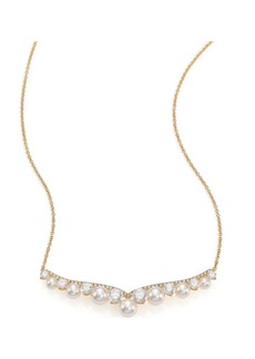 Adriana Orsini Fireworks Faux Pearl & Pavé Frontal Necklace