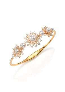 Adriana Orsini Fireworks Faux Pearl & Pavé Starburst Cuff Bracelet