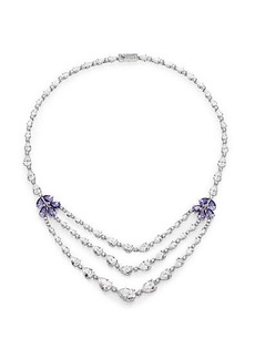 Adriana Orsini Floral Three-Strand Statement Necklace