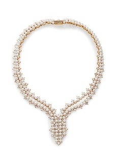 Adriana Orsini Garden Gate Faux Pearl Drama Y Necklace/Goldtone