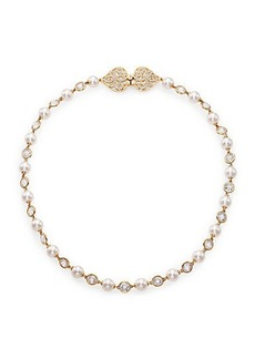 Adriana Orsini Garden Gate Faux Pearl Strand Necklace/Goldtone