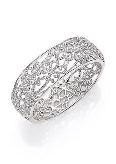 Adriana Orsini Garden Gate Pavé Crystal Bangle Bracelet/Silvertone