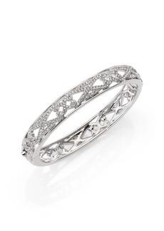 Adriana Orsini Garden Gate Pavé Crystal Thin Bangle Bracelet/Silvertone
