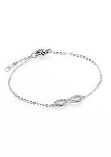 Adriana Orsini Infinity Symbol Pavé & Sterling Silver Bracelet
