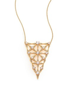 Adriana Orsini Kaleidoscope Crystal Inverted Triangle Pendant Necklace