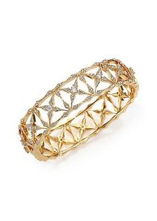 Adriana Orsini Kaleidoscope Pavé Bangle Bracelet/Goldtone