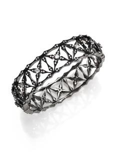 Adriana Orsini Kaleidoscope Pavé Bangle Bracelet/Gunmetal-Tone