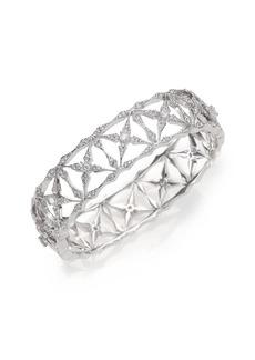 Adriana Orsini Kaleidoscope Pavé Bangle Bracelet/Silvertone
