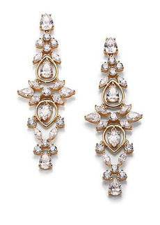 Adriana Orsini Lavish Linear Drop Earrings/Goldtone