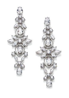 Adriana Orsini Lavish Linear Drop Earrings/Silvertone