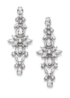 Adriana Orsini Lavish Linear Drop Earrings/Silvertone