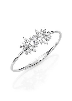 Adriana Orsini Lavish Small Bangle Bracelet/Silvertone