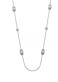 Adriana Orsini Long Faceted Station Necklace