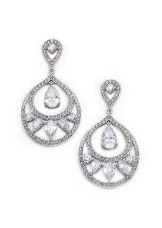Adriana Orsini Nested Teardrop Earrings/Silvertone