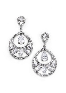 Adriana Orsini Nested Teardrop Earrings/Silvertone