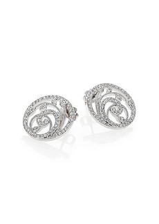 Adriana Orsini Nouveau Pavé Crystal Button Earrings