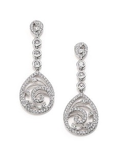 Adriana Orsini Nouveau Pavé Crystal Teardrop Earrings