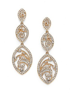 Adriana Orsini Nouveau Pavé Crystal Triple-Drop Earrings