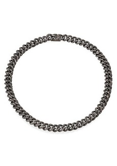 Adriana Orsini Pavé Blackened Chain Necklace