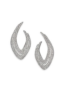 Adriana Orsini Pavé Crystal Abstract Marquis Earrings