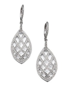 Adriana Orsini Pavé Crystal Basket-Weave Drop Earrings