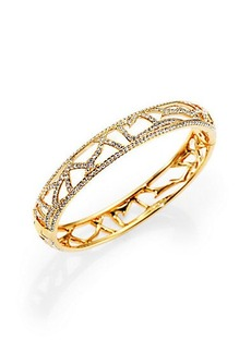 Adriana Orsini Pavé Crystal Branch Bangle Bracelet/Goldtone
