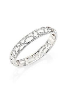 Adriana Orsini Pavé Crystal Branch Bangle Bracelet/Silvertone