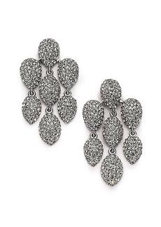 Adriana Orsini Pavé Crystal Chandelier Earrings/Silvertone