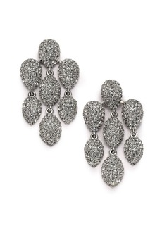 Adriana Orsini Pavé Crystal Chandelier Earrings/Silvertone