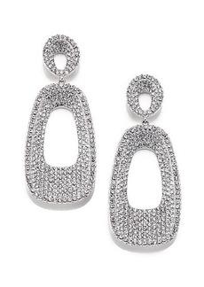 Adriana Orsini Pavé Crystal Concave Rectangle Drop Earrings