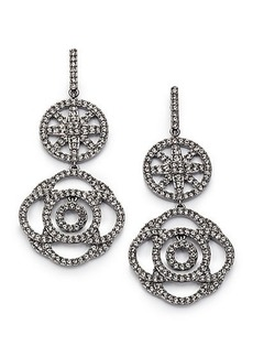 Adriana Orsini Pavé Crystal Medallion Drop Earrings
