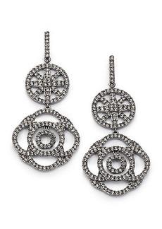 Adriana Orsini Pavé Crystal Medallion Drop Earrings