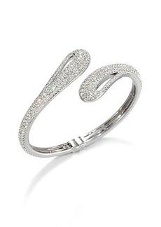 Adriana Orsini Pavé Crystal Open Teardop Bangle Bracelet