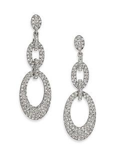 Adriana Orsini Pavé Crystal Oval Link Drop Earrings