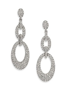 Adriana Orsini Pavé Crystal Oval Link Drop Earrings