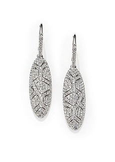 Adriana Orsini Pavé Crystal Shell Oval Drop Earrings