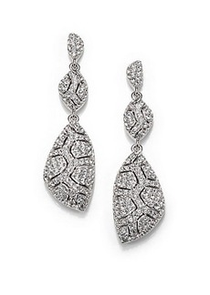 Adriana Orsini Pavé Crystal Shell Triple-Drop Earrings