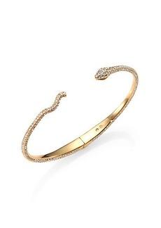 Adriana Orsini Pavé Crystal Snake Cuff Bracelet/Goldtone