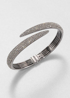 Adriana Orsini Pavé Crystal Tail Bangle Bracelet/Hematite