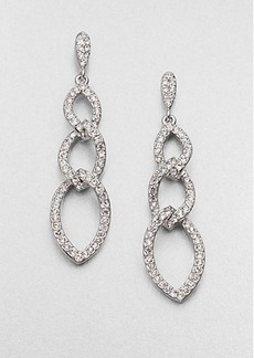 Adriana Orsini Pavé Crystal Triple Link Drop Earrings