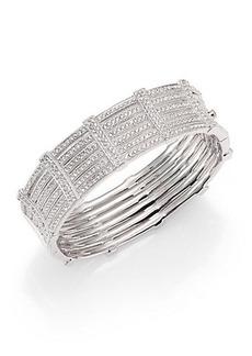 Adriana Orsini Pavé Gate Bangle Bracelet
