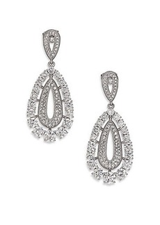 Adriana Orsini Pavé Nested Teardrop Earrings/Silvertone