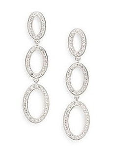 Adriana Orsini Pavé Oval Linear Drop Earrings