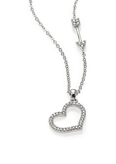 Adriana Orsini Pavé Sterling Silver Heart & Arrow Pendant Necklace