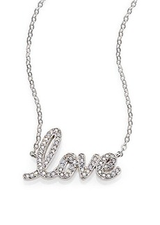 Adriana Orsini Pavé Sterling Silver Love Script Necklace